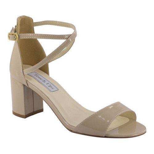Nine West Snakeskin Nude Wedge Heel Sandals Sz 7.5M Criss