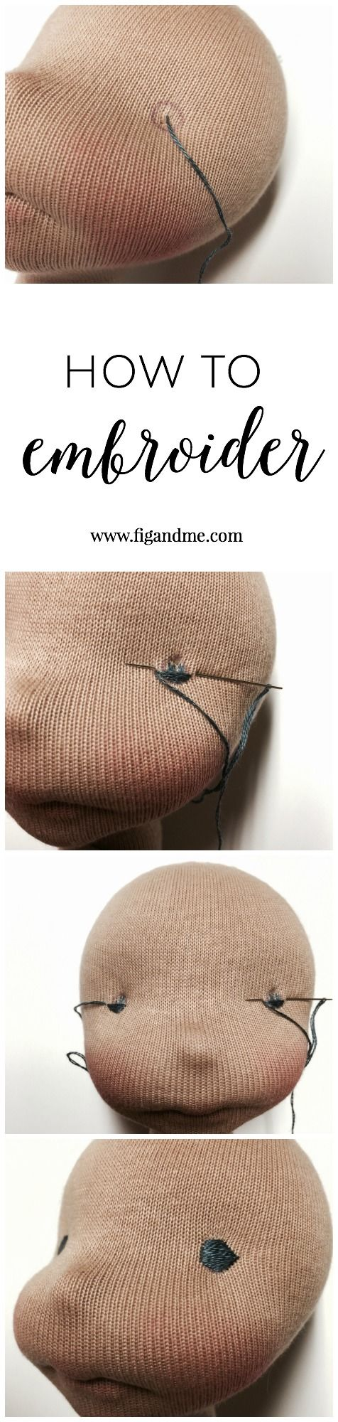 How To Embroider The Eyes On A Wool Sculpted Doll, A Mini Tutorial By Fig