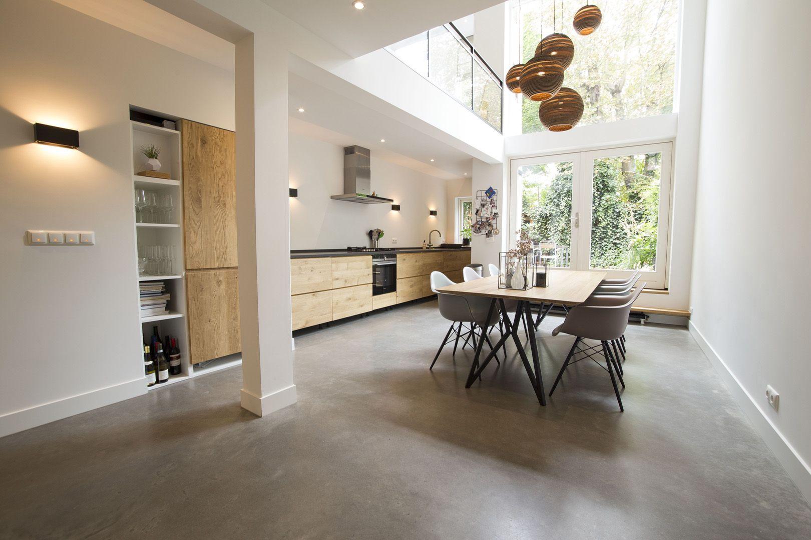 Gepolijste woonbeton vloer. geen betonlook maar écht beton