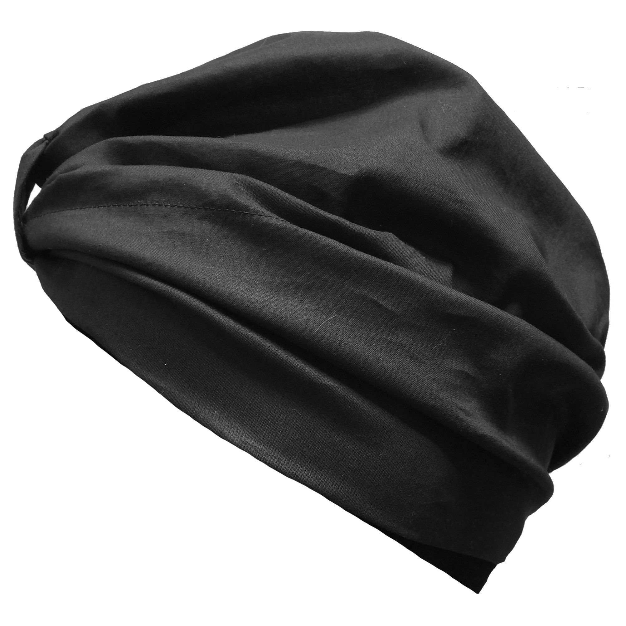 Turban with Front & Back Tie - Black