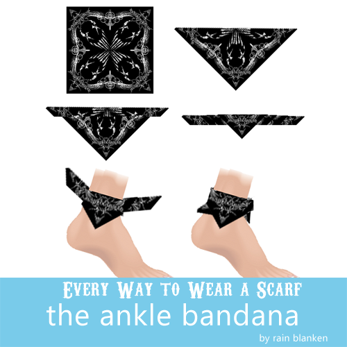 How to wear a ankle bandanna