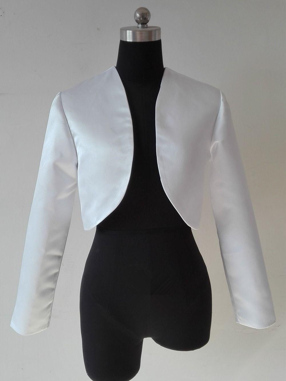 c84e55d0c0 Click to Buy << White Black Shawl Bolero Wedding Jacket Bridal Shrug ...