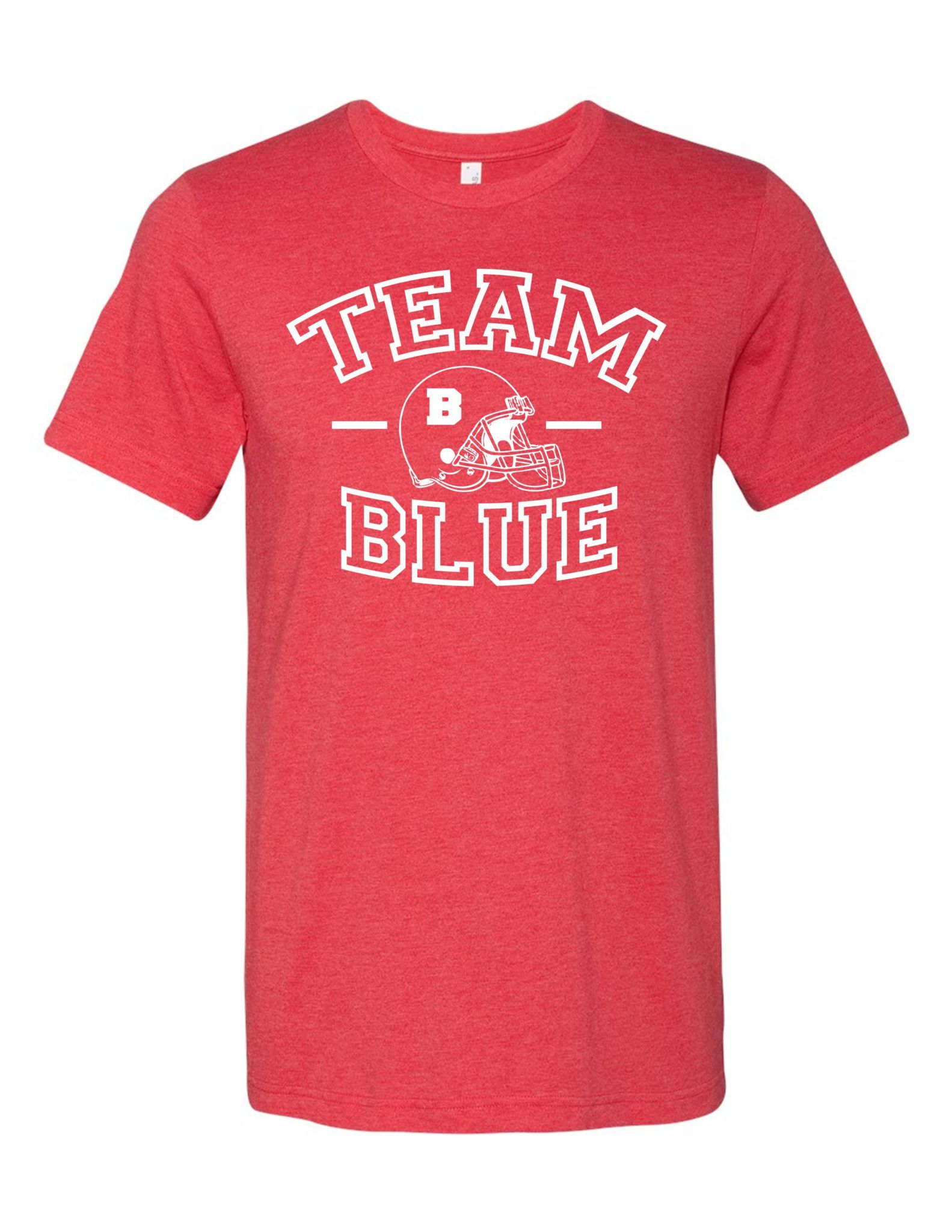 Team Blue Football Gender Reveal 3001 Premium Crewneck T Shirt