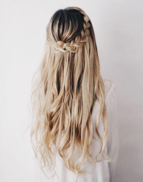 Abschlussfeier Frisuren Offene Haare