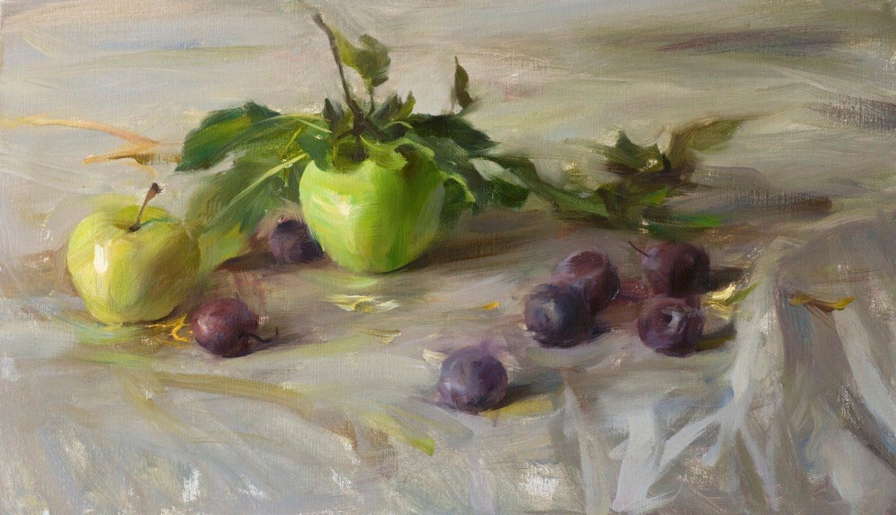 Plums-and-Green-Apples-12x20.jpg 1,280×736 pixels