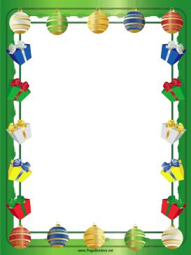 christmas paper borders