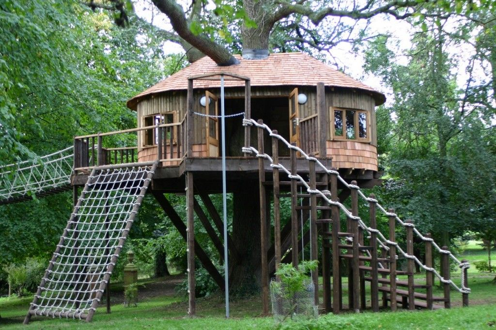 Rope Ladder Too Good For The Kids Tree House Treehouse Blue Forest Treehouses