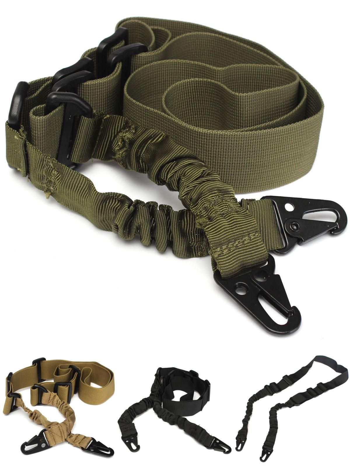 Adjustable Tactical 2 Two Point Bungee Rifle Gun Sling Strap Military Hunting