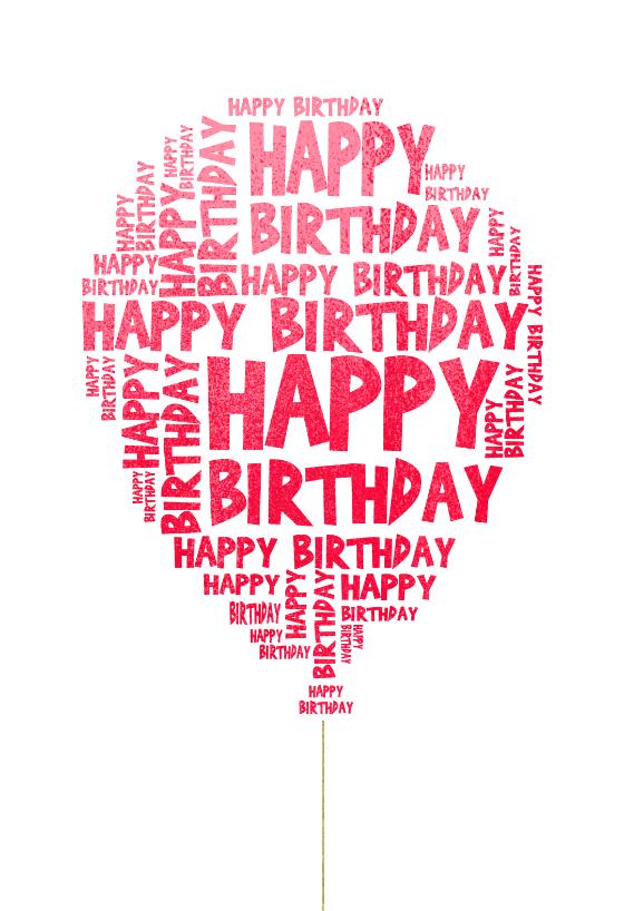 Happy Birthday Balloon Birthday Card Free Greetings Island Happy Birthday Cards Printable Happy Birthday Balloons Happy Birthday Messages