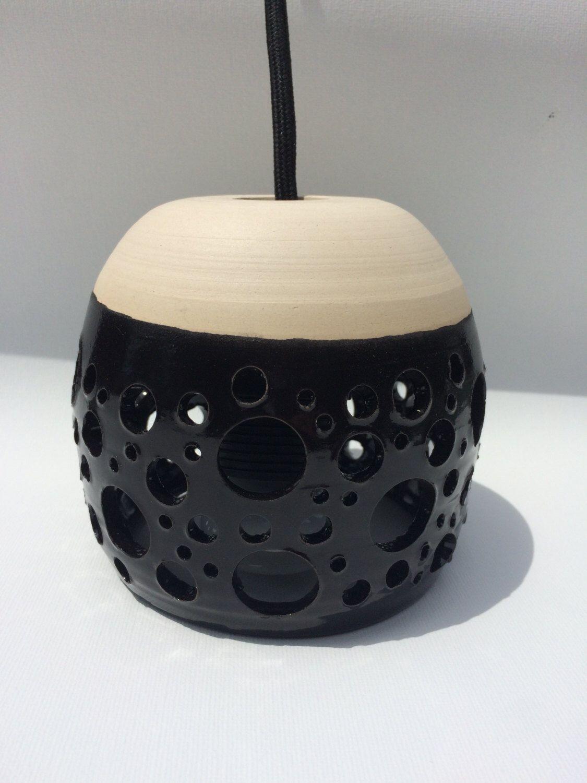 Ceramic Pendant Light by WoodwardPottery on Etsy https://www.etsy.com/listing/236146096/ceramic-pendant-light