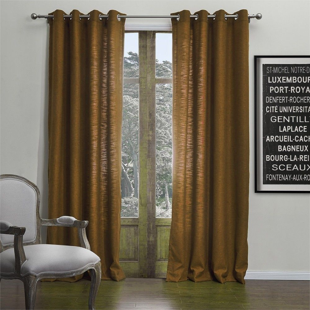 Modern Solid Light Brown Coffee Curtain Curtains Homedecor