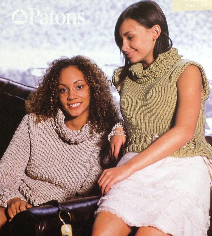 Beautiful Lace Neck Knitting Pattern Girls/Woman\'s/Ladies Polo Neck ...