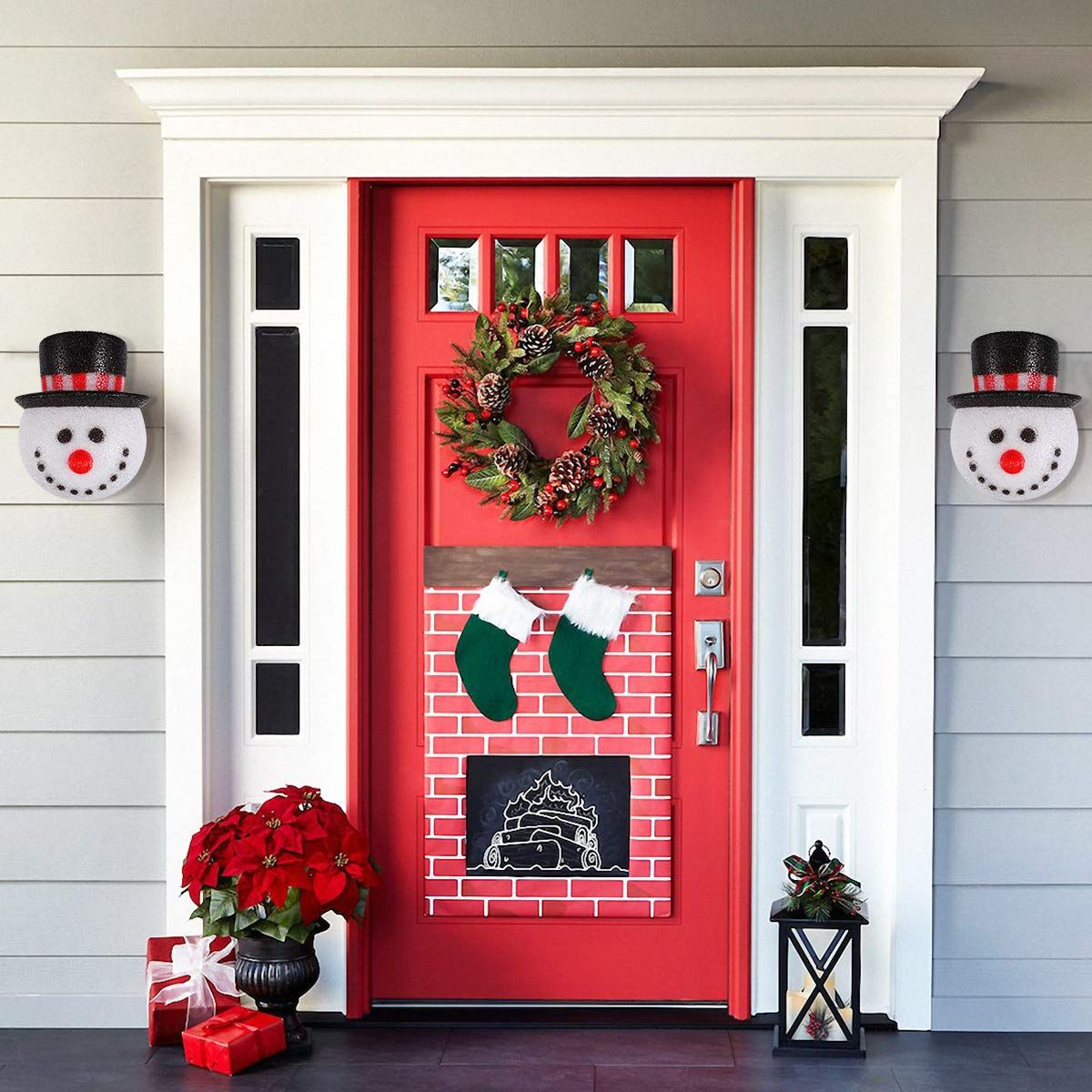 2 Pack Christmas Snowman Porch Light Covers Christmas Holiday Decoration For Outdoor Wa Christmas Porch Decor Diy Christmas Door Decorations Diy Christmas Door