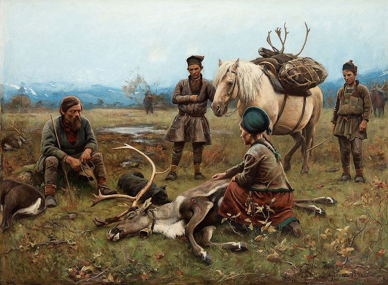 Johan Tiren The Laplander Camp At Gleen 1891 Art Nordic Art Virtual Art