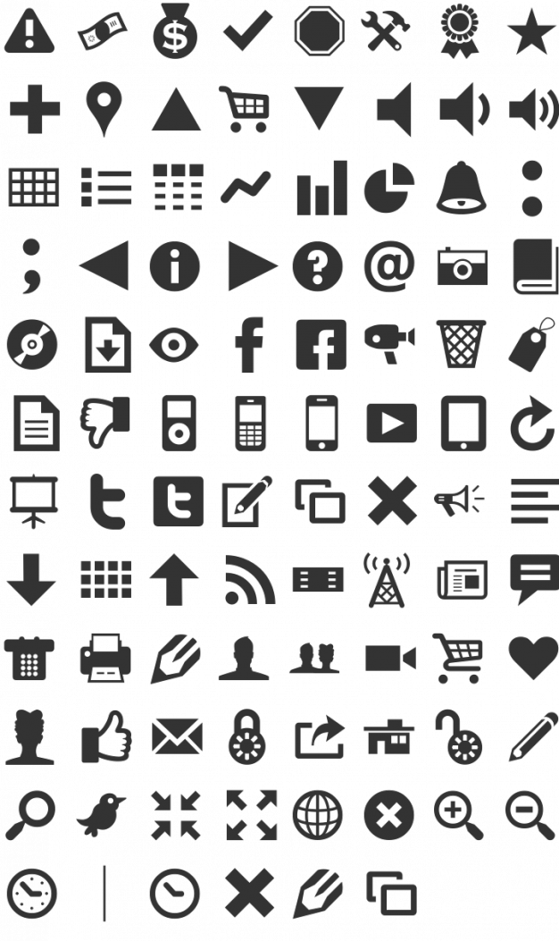 Font inspiration Modern Pictograms Pittogramma, Icone