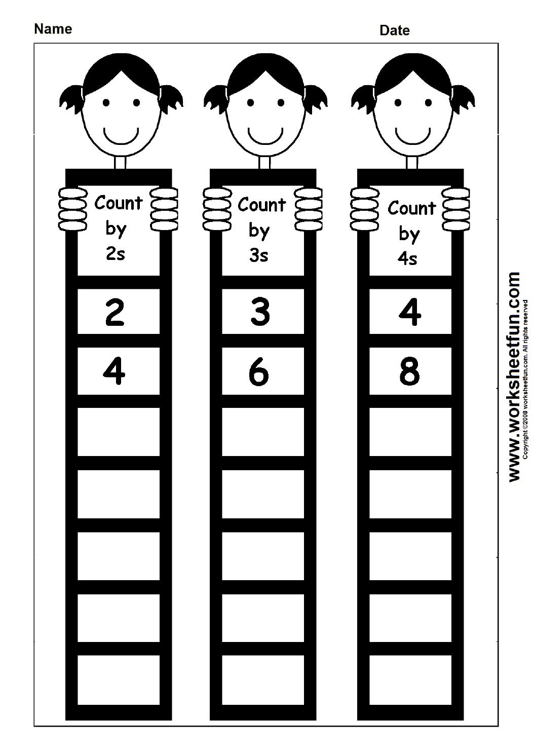skip counting by 2 3 and 4 1 worksheet printable worksheets pinterest skip counting. Black Bedroom Furniture Sets. Home Design Ideas