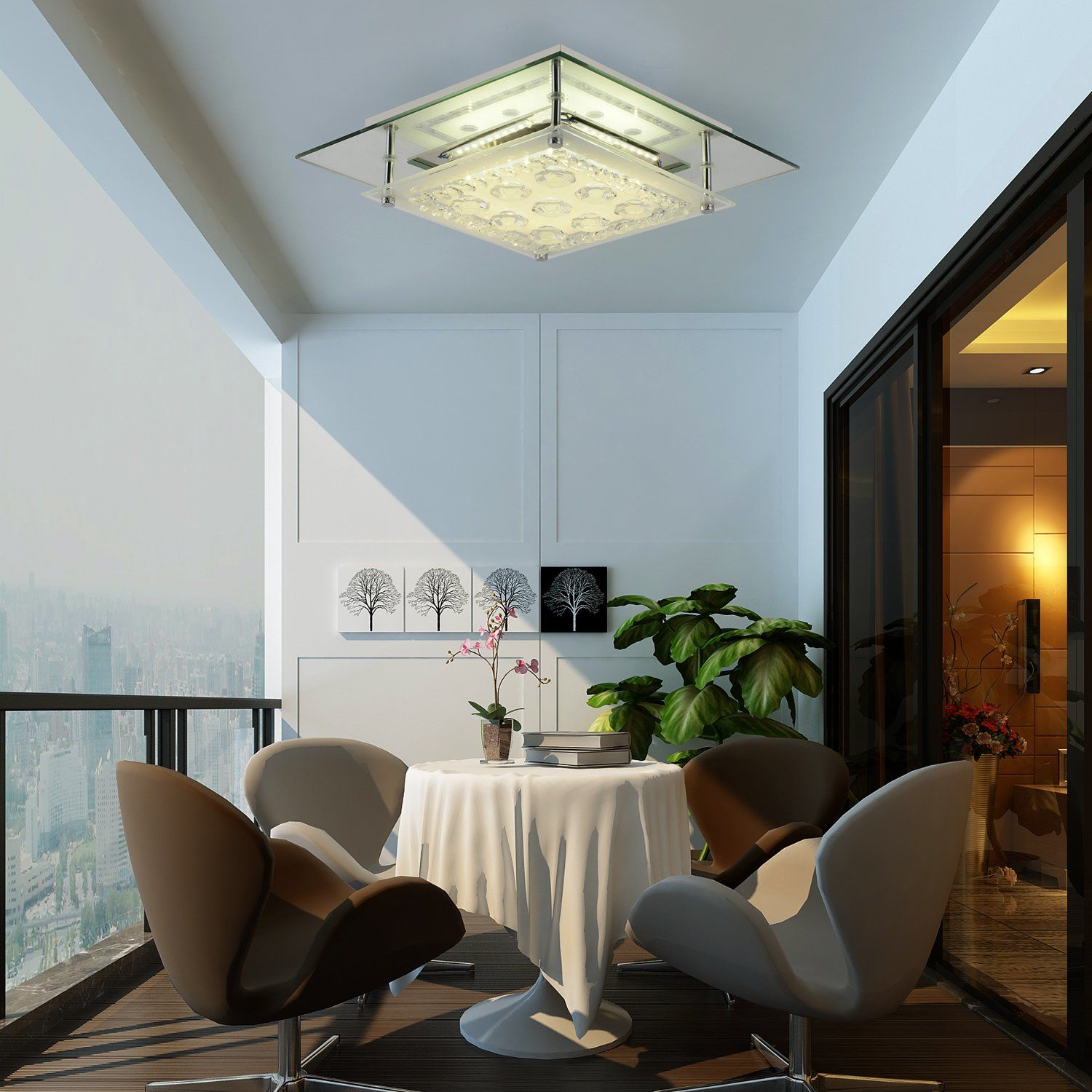 Flush Mount Ceiling Light ,AUDIAN Chrome Ceiling Fan Light Luxury ...
