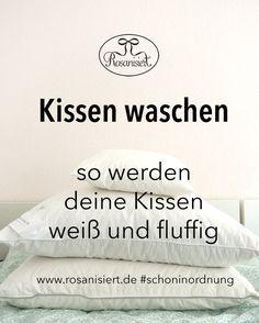 kissen waschen so werden deine kissen fluffig und wei pinterest. Black Bedroom Furniture Sets. Home Design Ideas