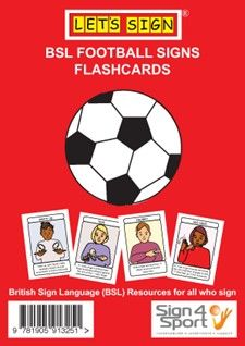 Bsl Football Signs Flashcards Sign Language For Kids Football Signs British Sign Language