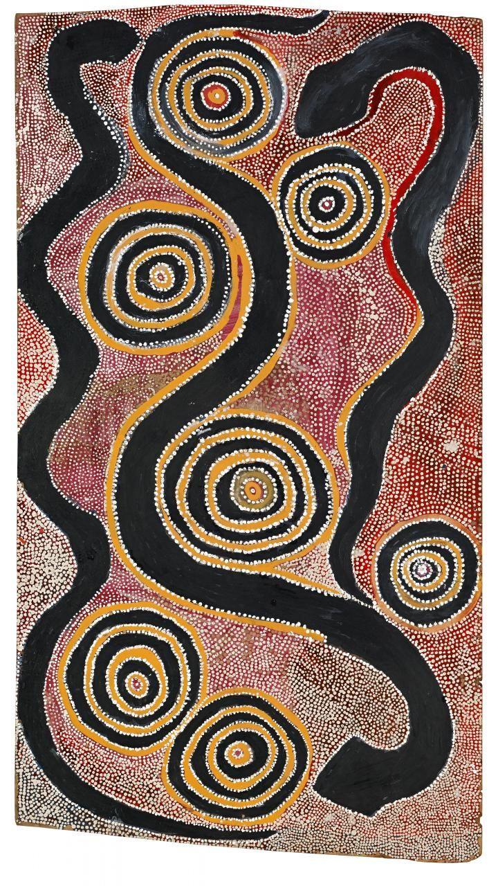 Kenny Jupurrula Walker S Snake Dreaming Australian Aboriginal Art