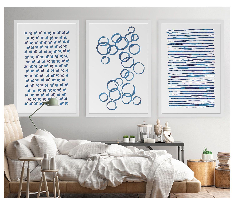 piece wall art office wall art large wall art blue abstract art