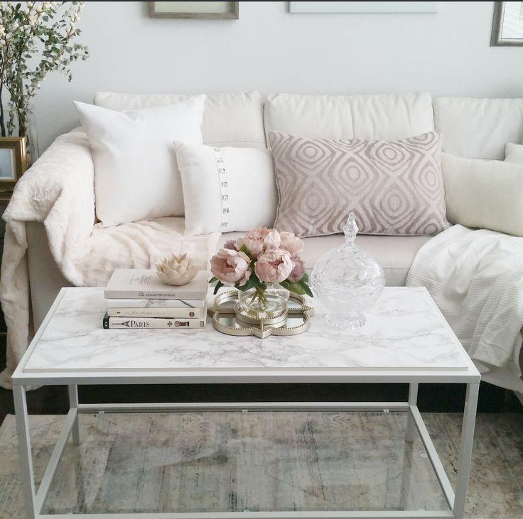 Decor Inspiring Marble Coffee Table For Living Room: Ikea Hack -Vittsjo Coffee Table: 4 Ways