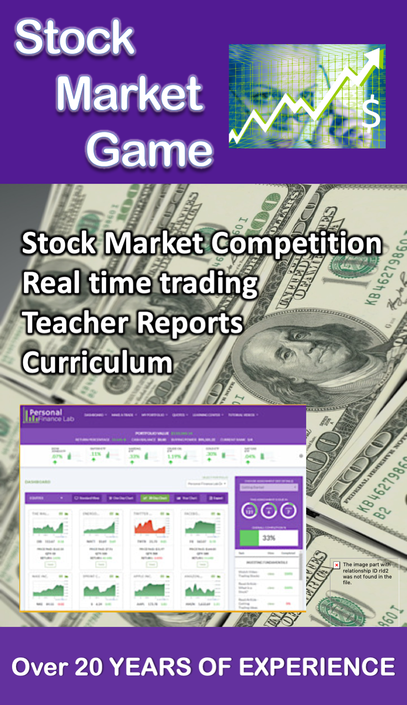 Stock Market Simulation Game Challenge 10 licenses