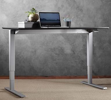 Humanscale Float Standing Desk Silver Base In 2020 Sit Stand Desk Electric Standing Desk Standing Desk