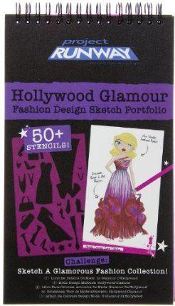 Project Runway Hollywood Glamour Fashion Design Sketch Portfolio By Fashion Angels Enterprises 19 99 Easy Design Sketch Fashion Angels Fashion Design Sketch