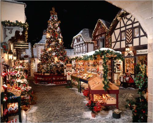 Visiting Bavarian Christmas Village At Yankee Candle, South Deerfield Mass.:  Http:/