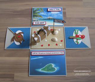 geschenkbox flitterwochen malediven berraschungsbox explosionsbox geldgeschenk hochzeit basteln. Black Bedroom Furniture Sets. Home Design Ideas