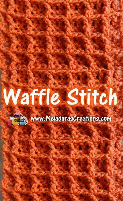 Waffle Stitch - Tutorials | Häkelmuster | Pinterest | Häkeln, Muster ...