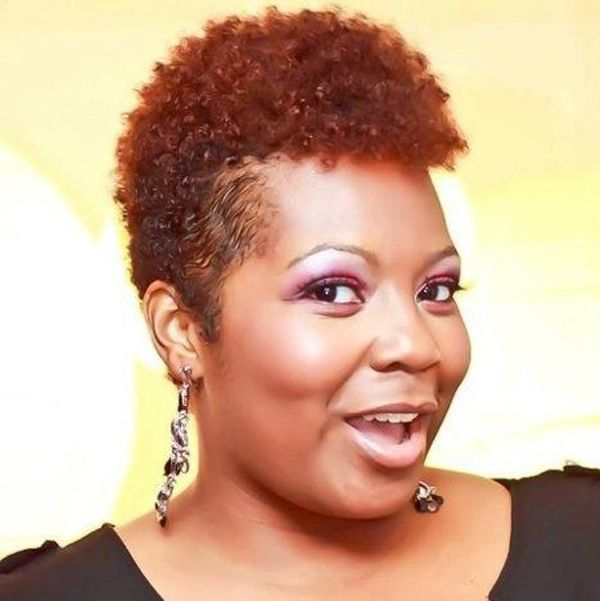 Short Natural Hairstyles For Black Women With Round Faces