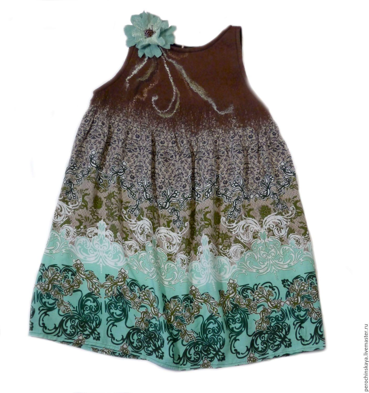 Платье из вискозы детское