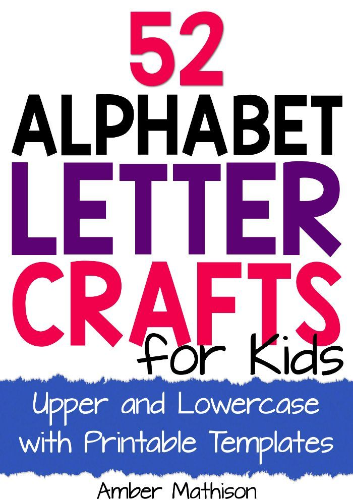 Upper And Lowercase Alphabet Letter Crafts For Kids With Printable Templates