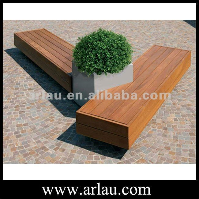 Arlau Fw148 Outdoor Square Wood Bench