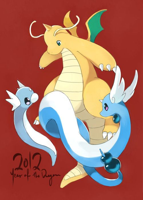 Dragonite, Dragonair, and Dratini | Pokemon | Pokemon ...  Dragonite, Drag...