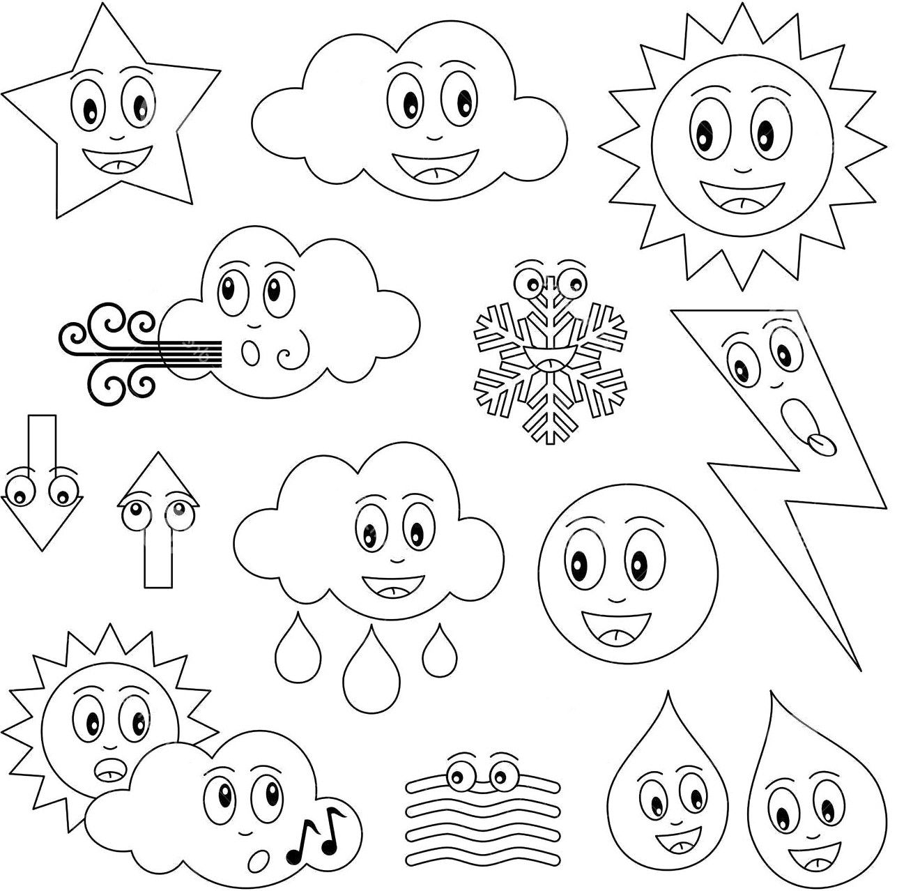the dismal state of weather coloring page for kids