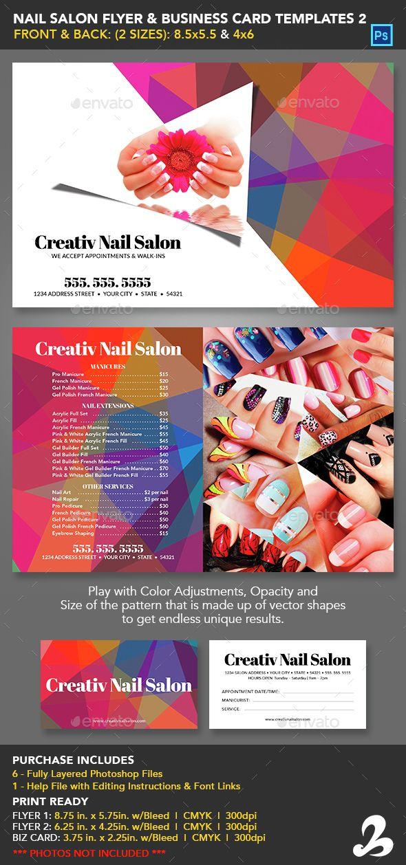 Nail salon flyer business card templates 2 nail salons card nail salon flyer business card templates 2 reheart Images