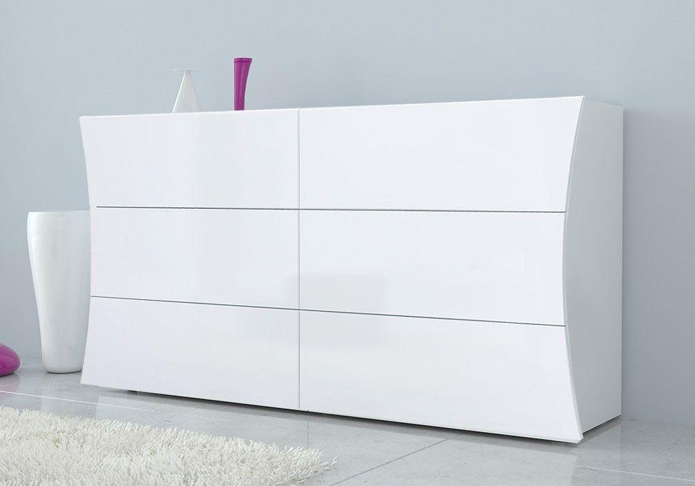 Como 6 Cassetti Grande In Finitura Bianco Laccato Lucido Linea Arco Ztc49727634 Furniture Dresser Home Decor