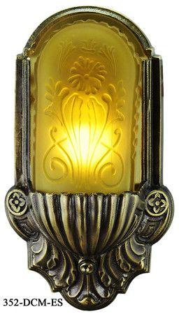 Pair Of Large Art Deco Sconces Art Deco Lighting Art Deco Chandelier Art Deco Lamps