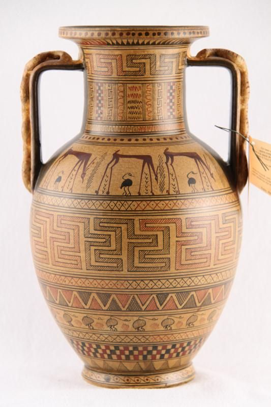 Ancient Greek Geometric Vase Amphora Ceramicspottery Pinterest