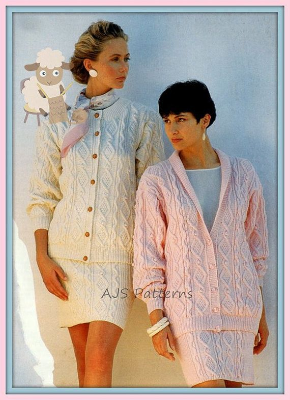 PDF Knitting Pattern for Aran Cabled Suit with by TheKnittingSheep ...