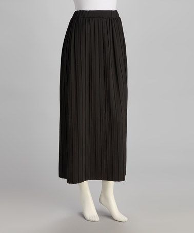 Take a look at this Black Pleated Skirt by jon & anna on #zulily today! $17