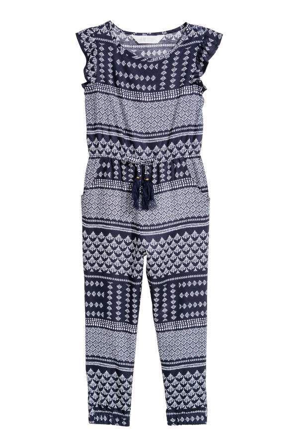 415eee28a11 H M H   M - Patterned Jumpsuit - Dark blue patterned - Kids