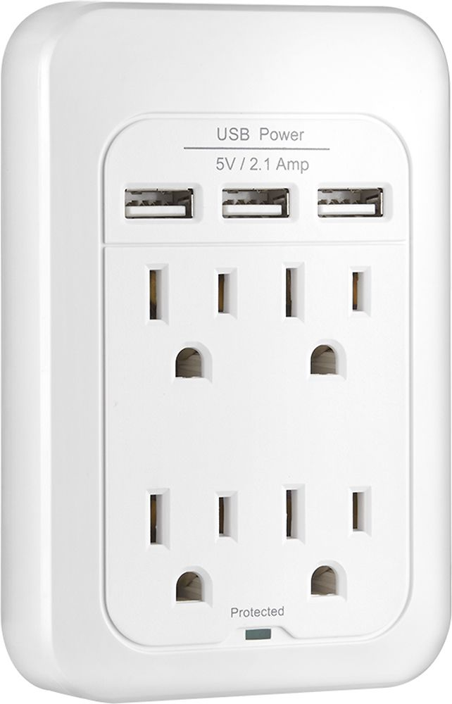4 Outlet Wallmount Usb Ns Pws548u Cool Things To Buy Surge Protection Outlet