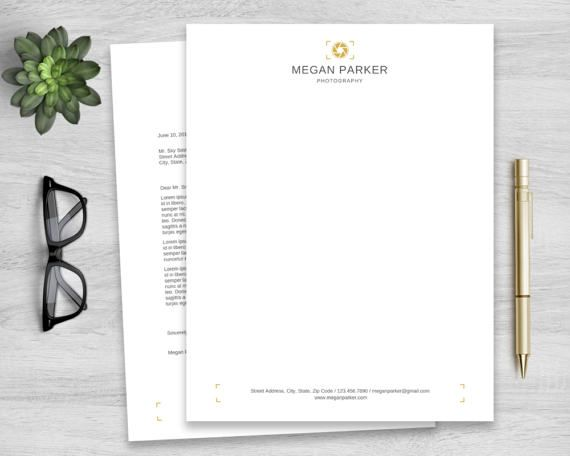 Letterhead Template For Word Personalized Notepad Business