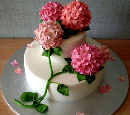 Cake with beautiful flowers Other Nature Background Wallpapers