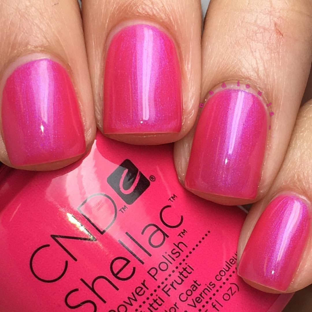 "Tutti Frutti Nails: Nadia On Instagram: ""@cndworld Shellac Tutti Frutti. I"