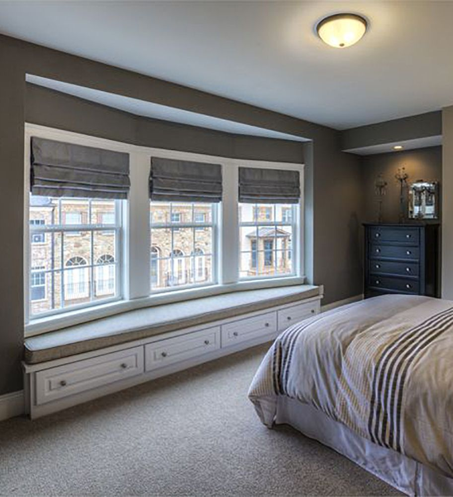 Bed on bay window  an intimate bay window bench gives your guests a quiet place to read